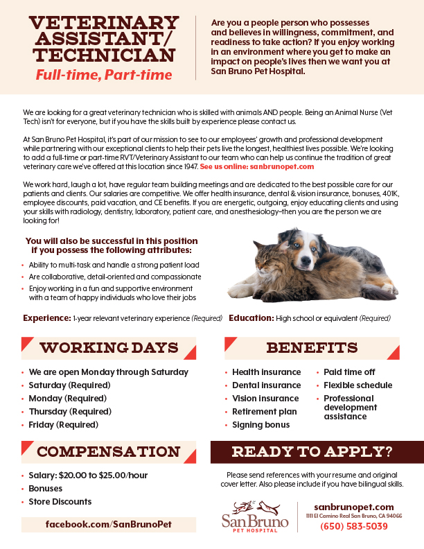 Vet Tech Job